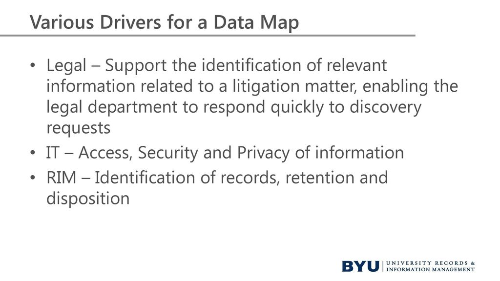 Leveraging The Data Map A Case Study November Ppt Download - Ediscovery data map