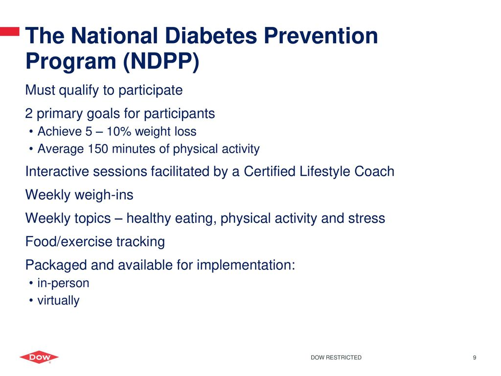 National Diabetes Prevention Program Dow - ppt download