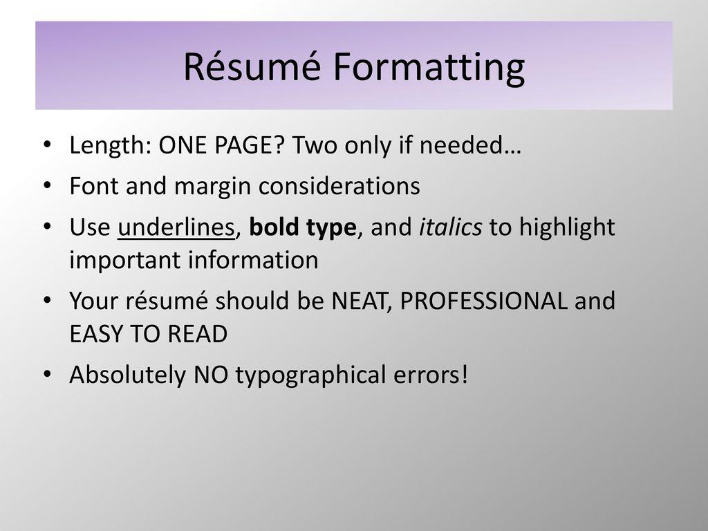Résumé Writing Nursing - ppt download