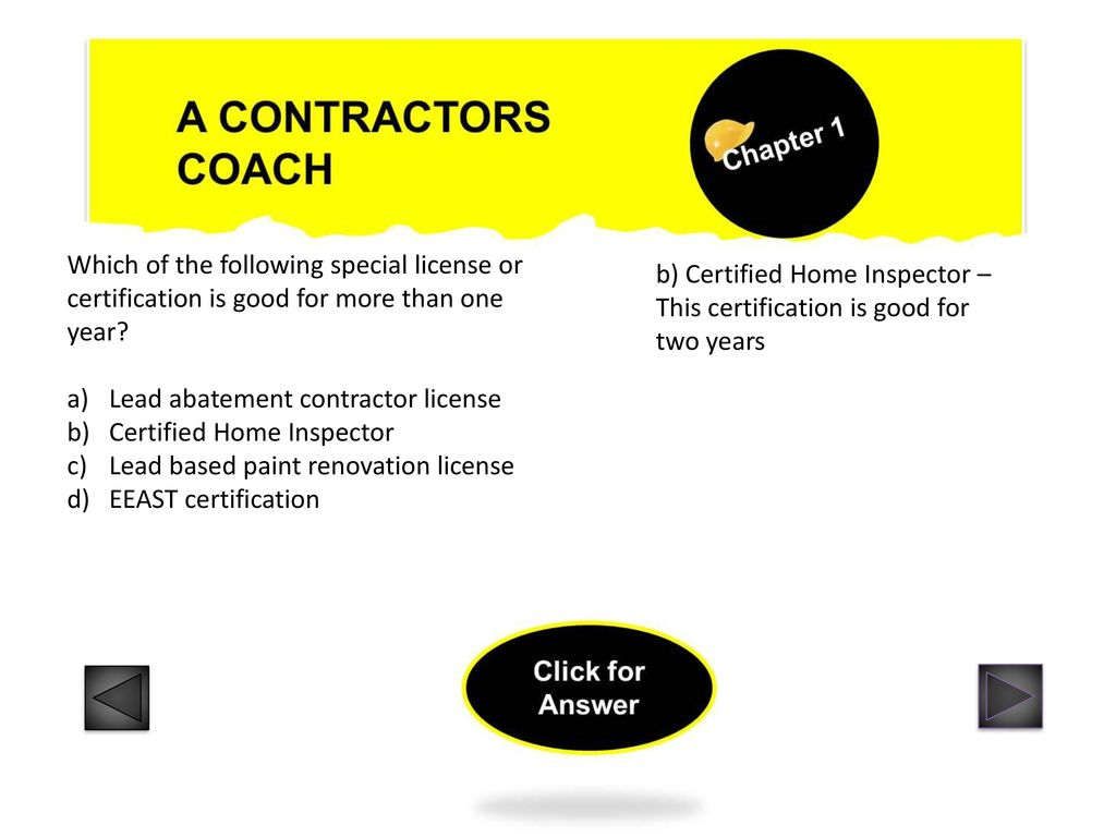 A Contractors Coach Chapter 1 Ppt Download