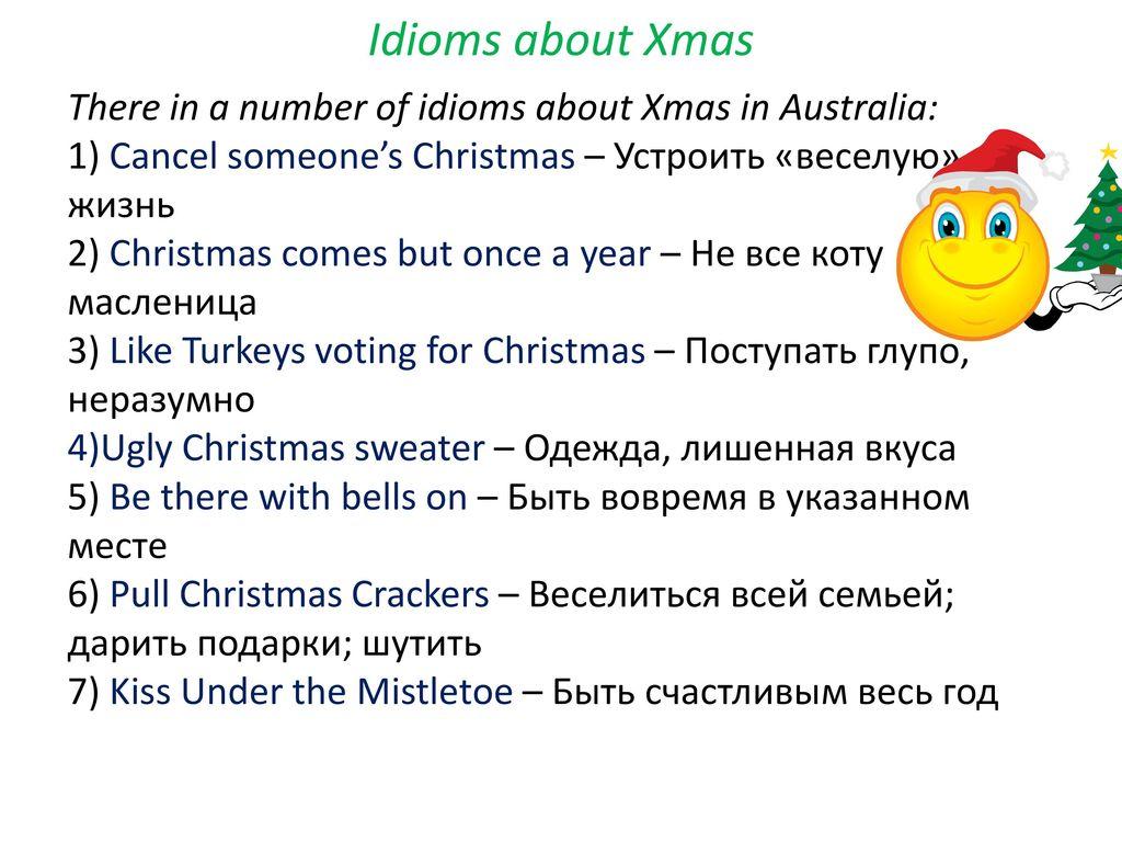 8 idioms about xmas - Christmas Idioms