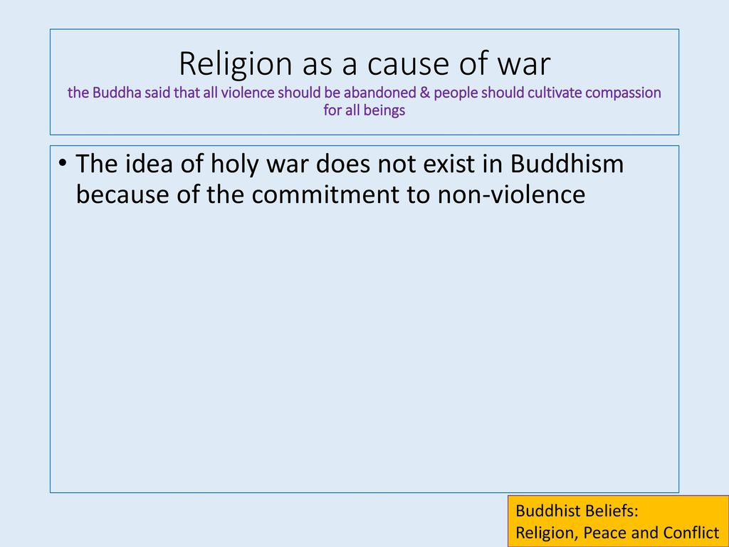Religion is not the main cause of wars