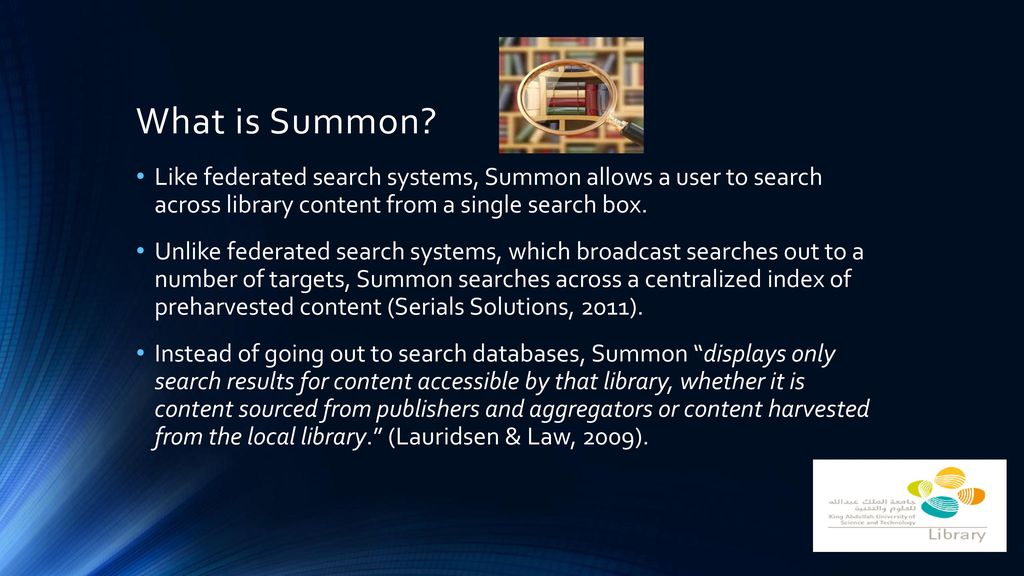 Implementation of Summon at KAUST - ppt download