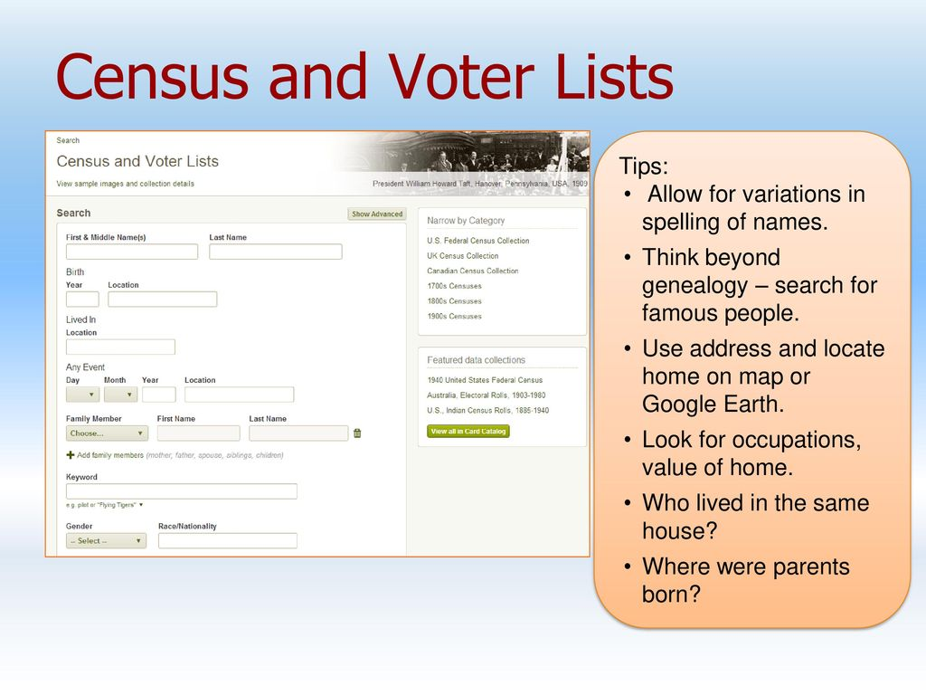 Ancestry: Library Edition by ProQuest - ppt download