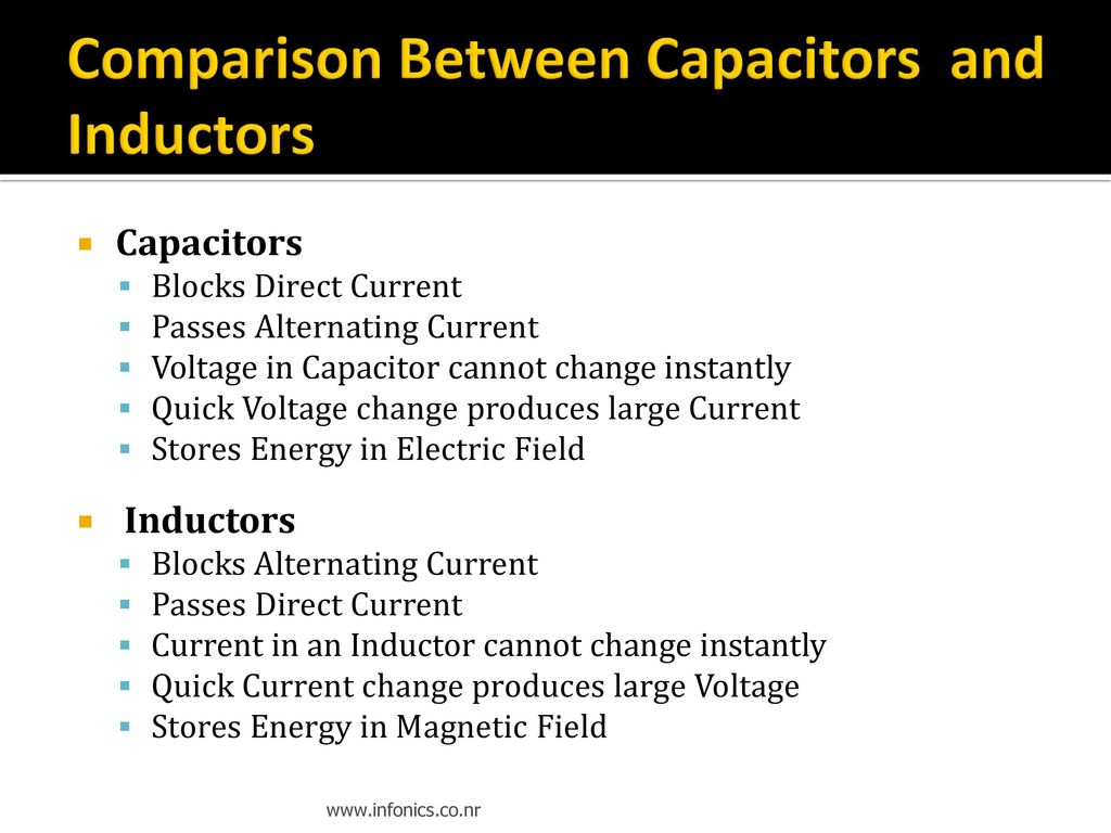 Introduction To Electronics Ppt Download Voltage Controlled Capacitors And Inductors Comparison Between