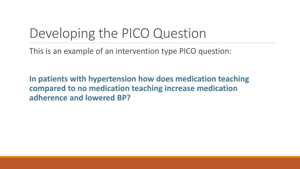 Pico question examples hypertension