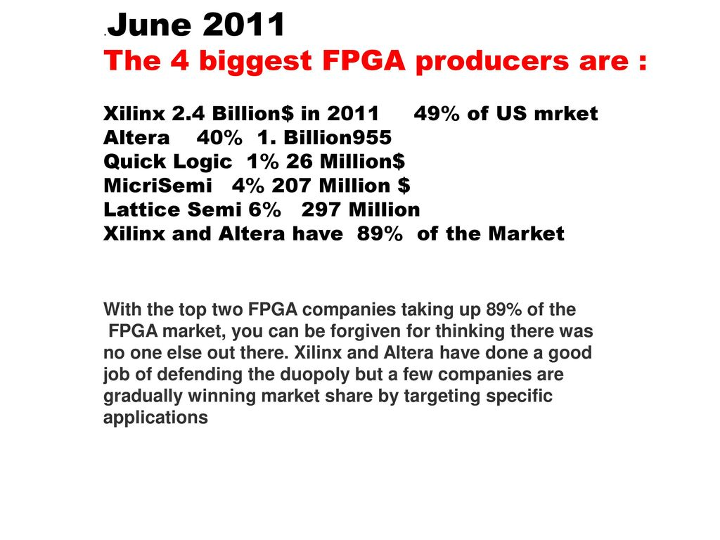 Asic Design Asim J Al Khalili Ppt Download Largest Fpga 68 Billion Transistors The 4 Biggest Producers Are