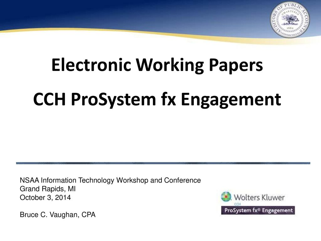 Electronic Working Papers - ppt download