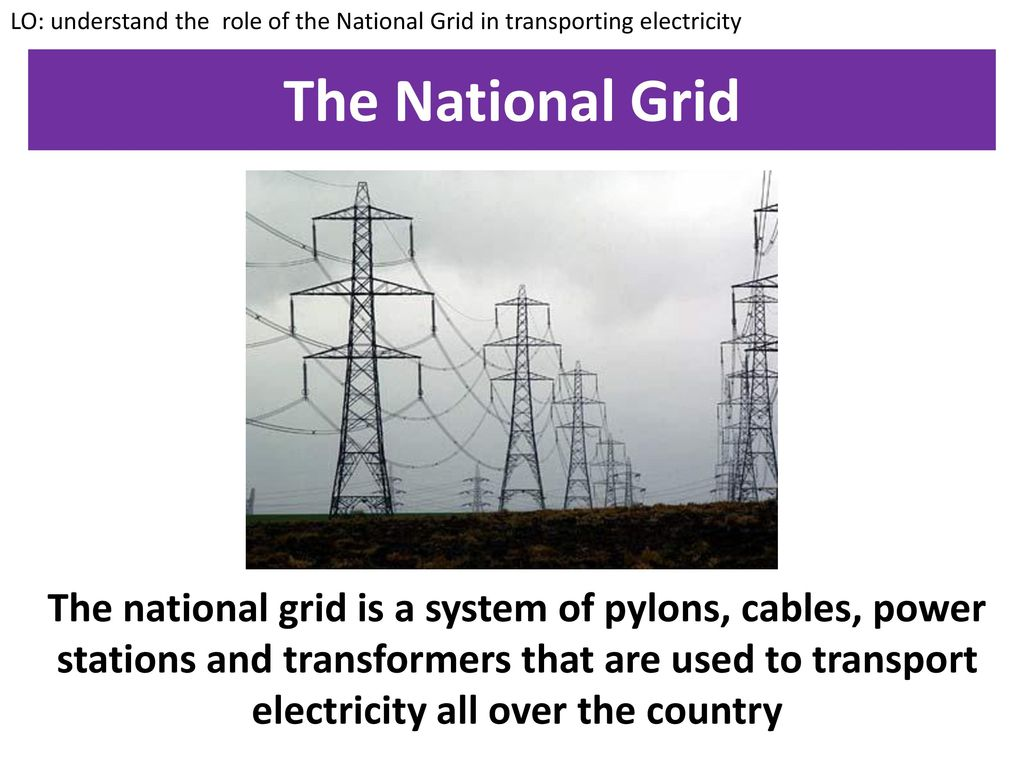 Electrical National Grid The Starter Ppt Download Lo Understand Role Of In Transporting Electricity