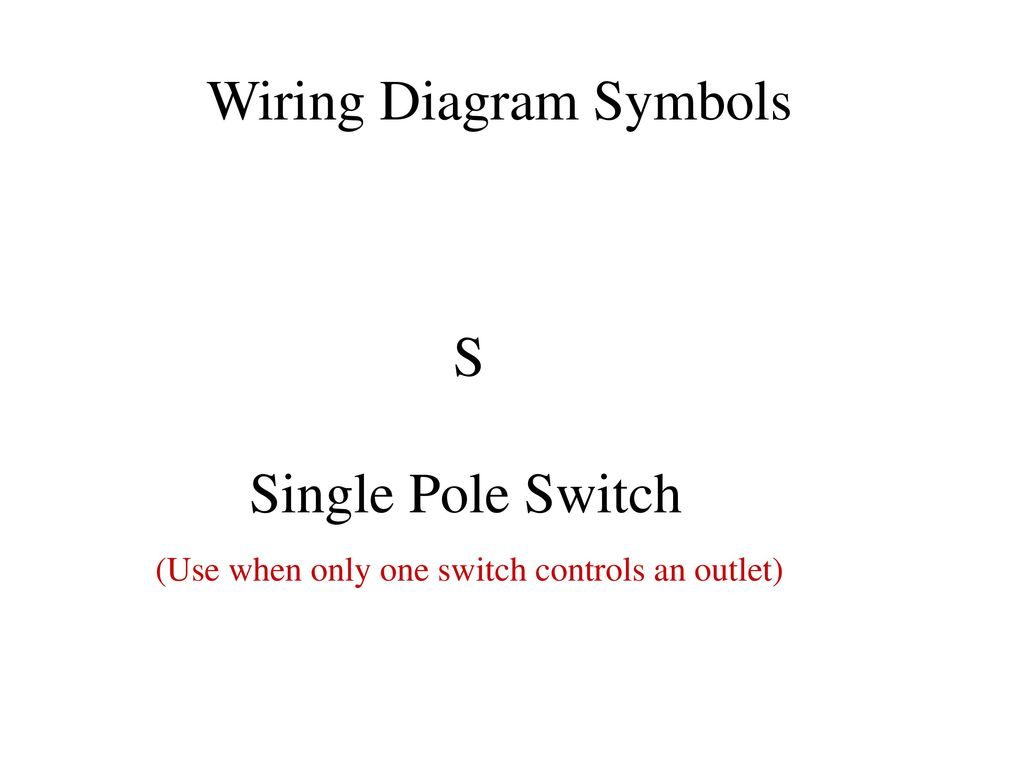 Electrical Diagrams Ppt Download Single Pole Switch Schematic Wiring Diagram Symbols