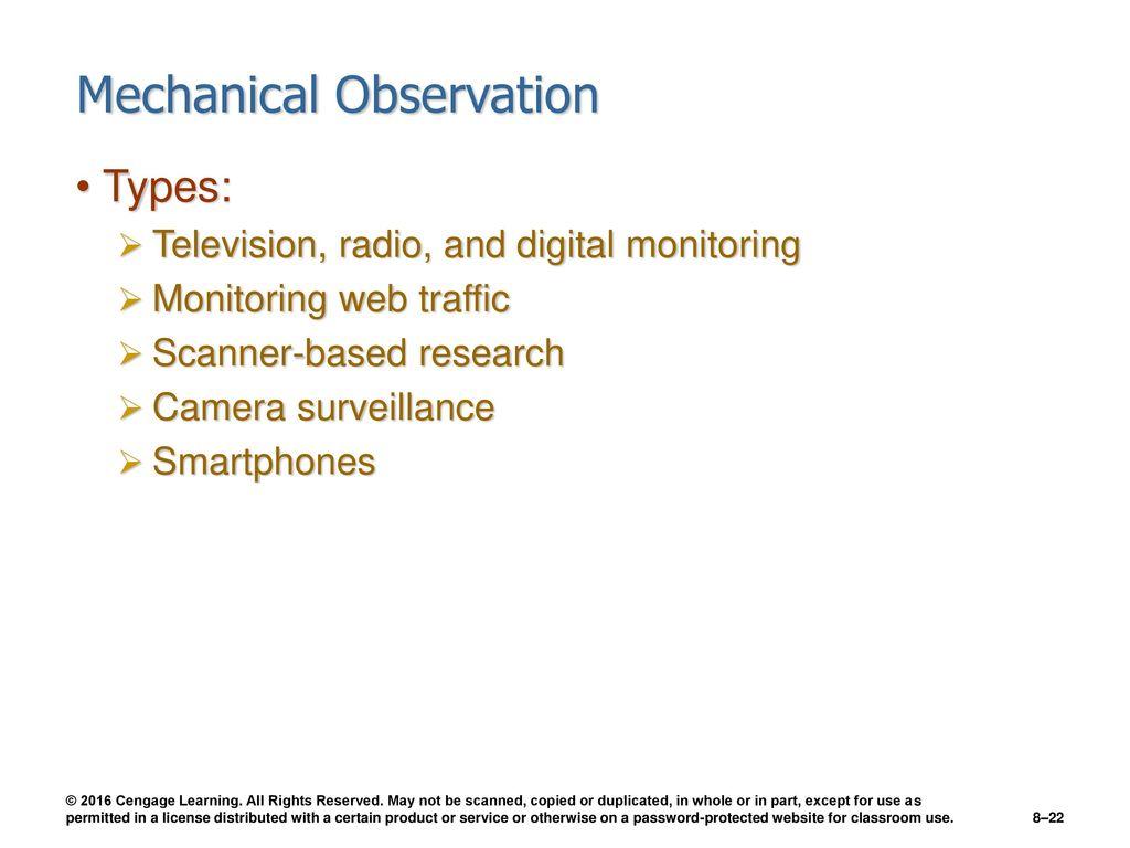 Chapter 8 Observation  - ppt download