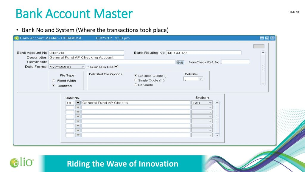 Riding the Wave of Innovation Cash / Bank Reconciliation - ppt download
