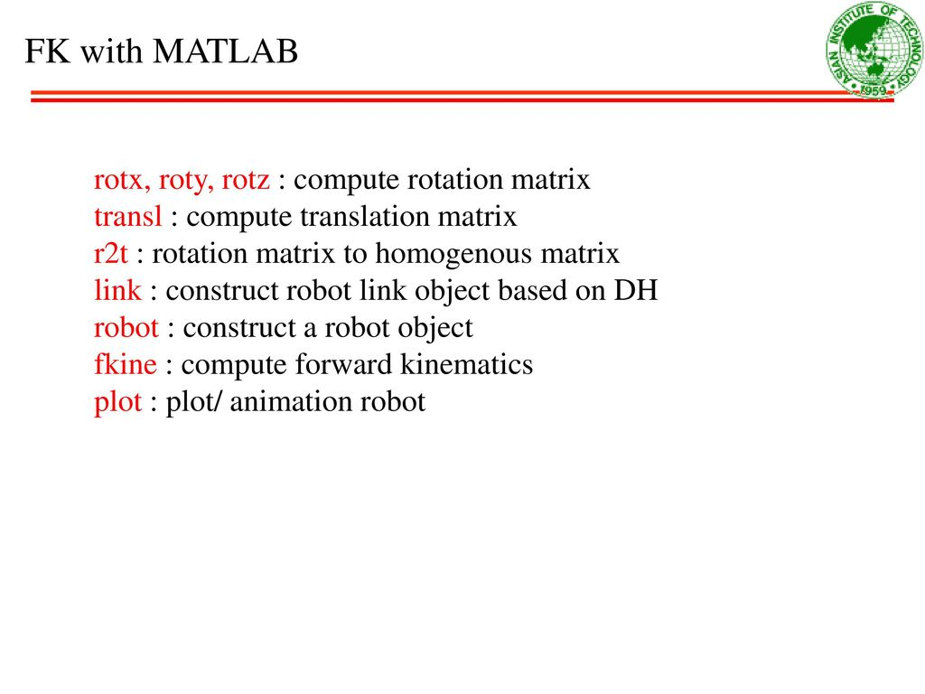 MT411 Robotic Engineering - ppt download