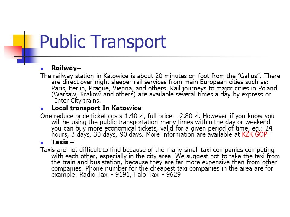 Public Transport Railway–