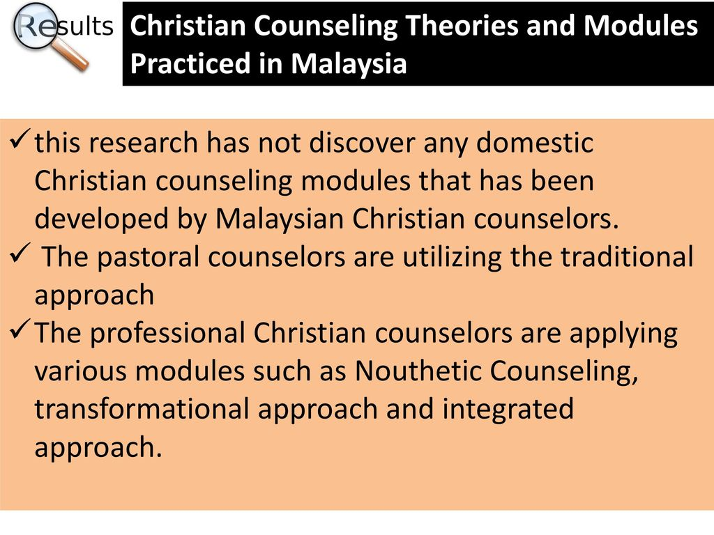christian counseling theories