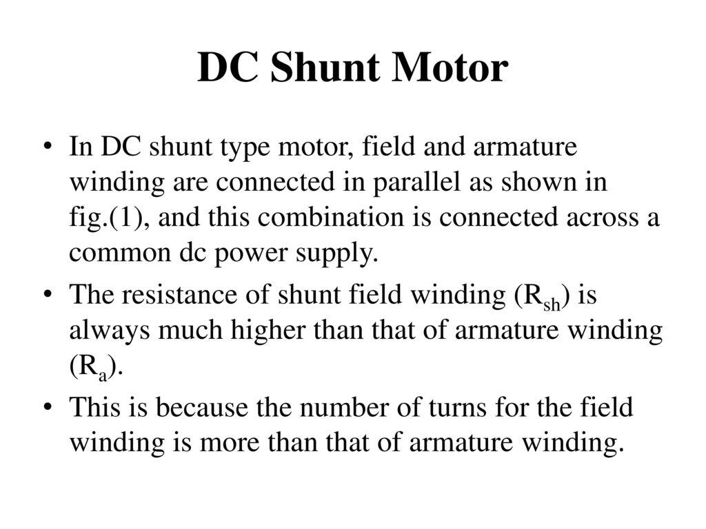 Dc Motor Ppt Download Shunt Wiring Diagram