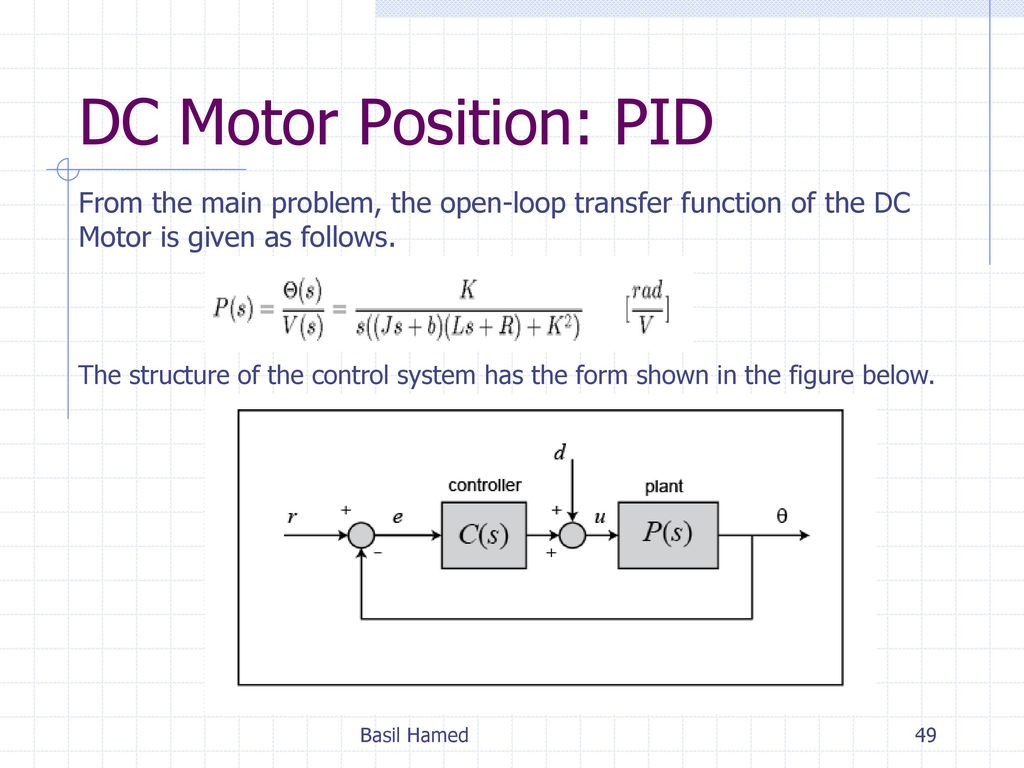 Control Systems Project Basil Hamed  - ppt download
