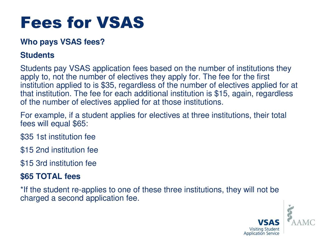Visiting Student Application Service (VSAS) Student Overview - ppt