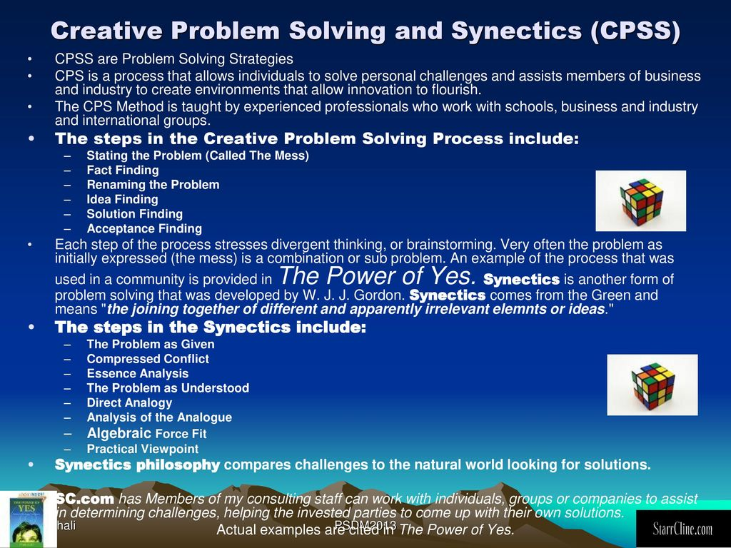 creative problem solving society (cpss)