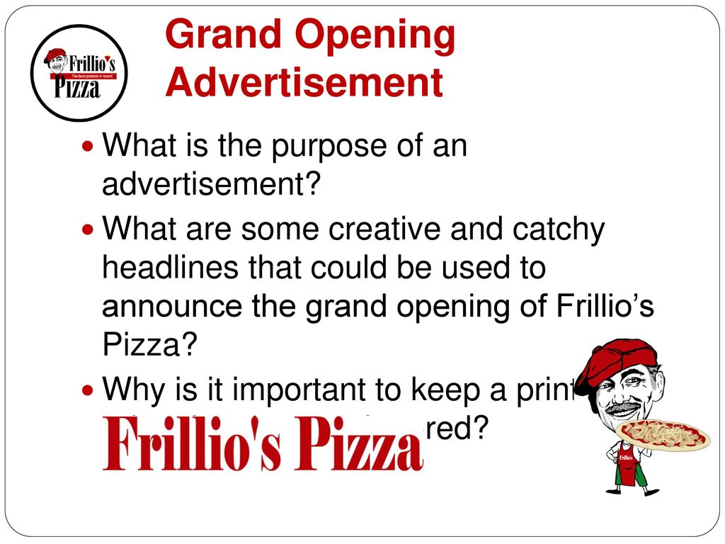 Grand Opening Advertisement