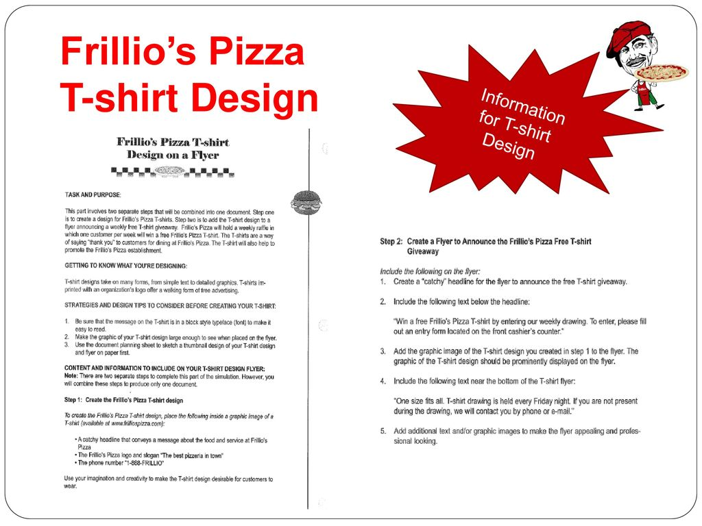 Frillio's Pizza T-shirt Design