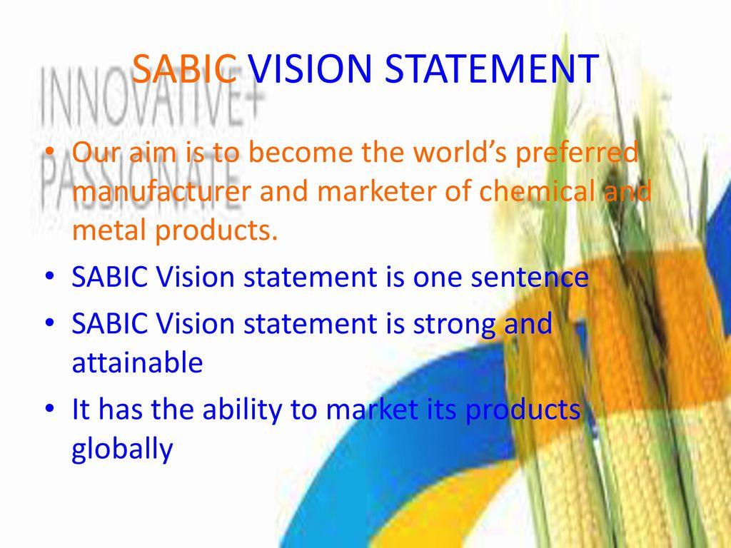 SABIC Prepared by Omar Al Morbati Strategic management