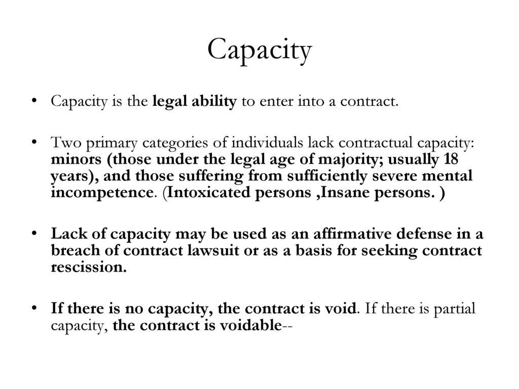Capacity Legal Ability Ppt Download