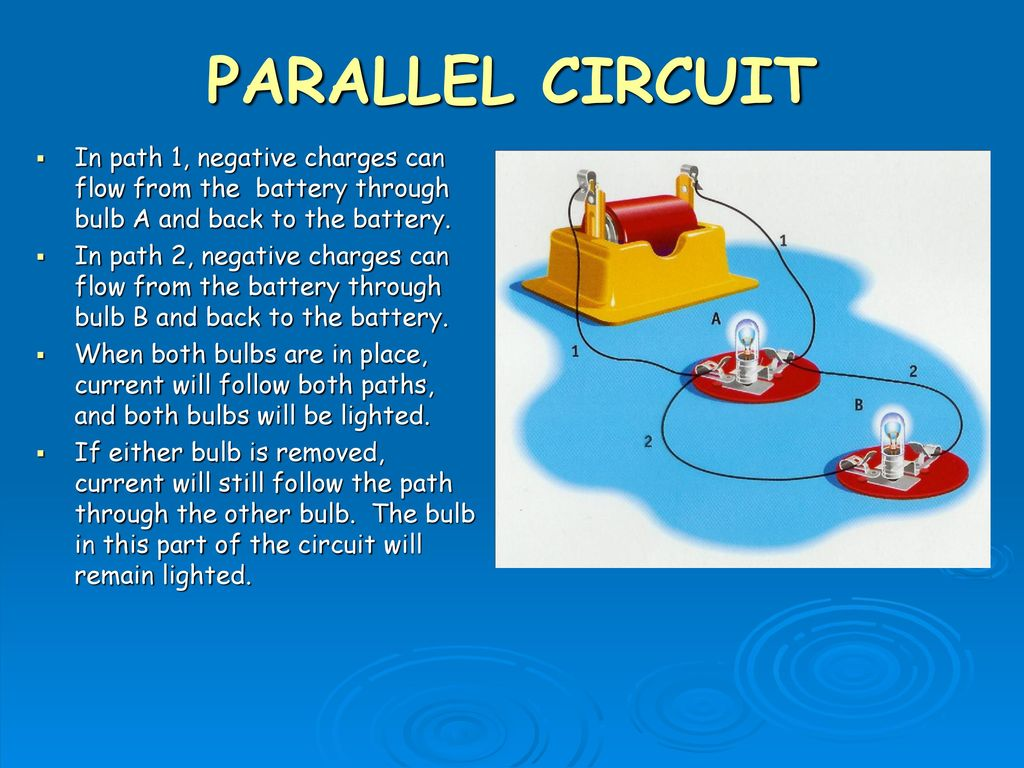 Safety Check Do Not Play With Electricity Ppt Download Circuit Is Path That Allows To Flow Through Parallel In 1 Negative Charges Can From The Battery Bulb A