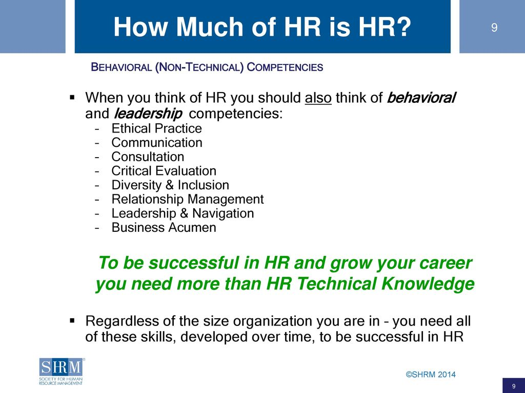 SHRM's HR Professional Competency Model: A Road Map for