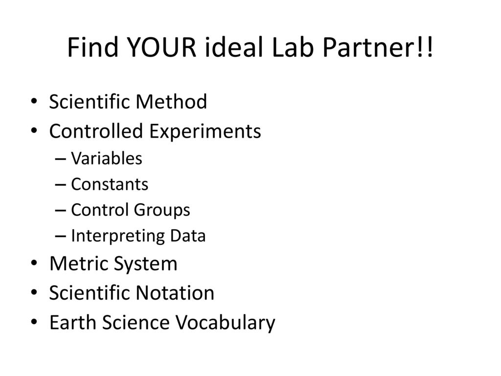 dating your lab partner