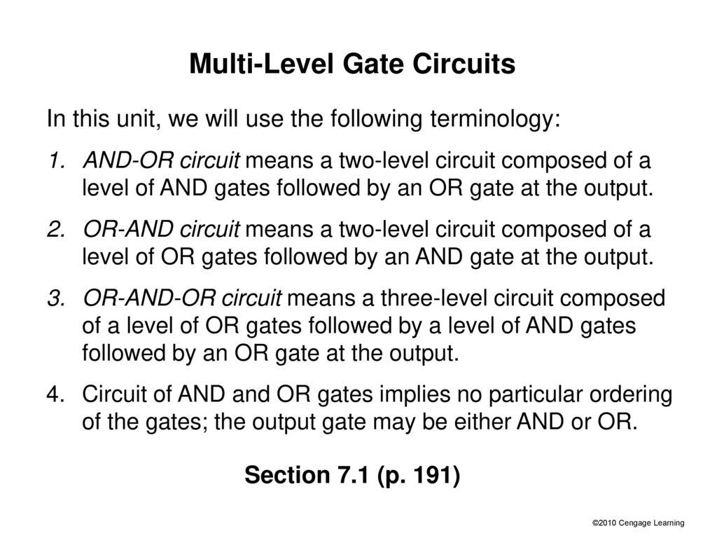 Slides For Chapter 7 Multi Level Gate Circuits Nand And Nor Gates Diagram