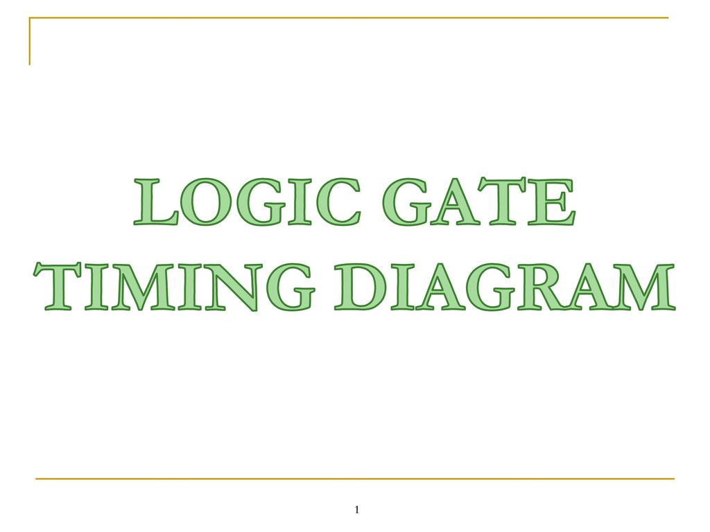 Logic Gate Timing Diagram Ppt Download Of And 1