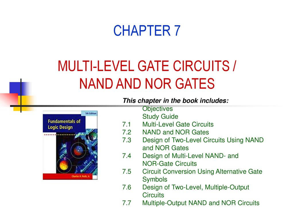 Chapter 7 Multi Level Gate Circuits Nand And Nor Gates Ppt Download Diagram