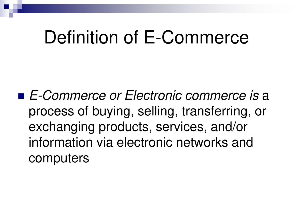introduction e-commerce. - ppt download