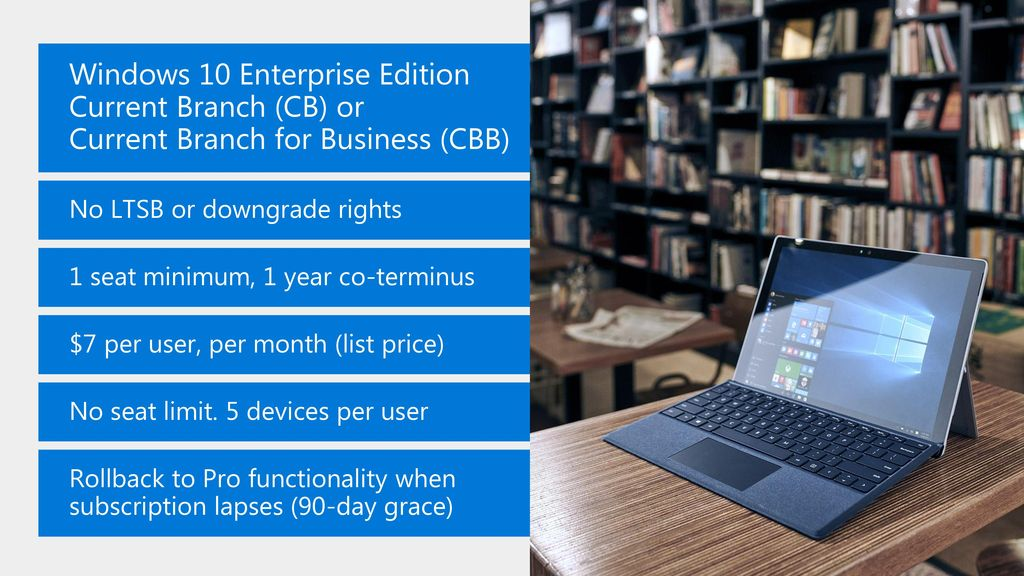 Introducing: Windows 10 Enterprise E3 for CSP - ppt download