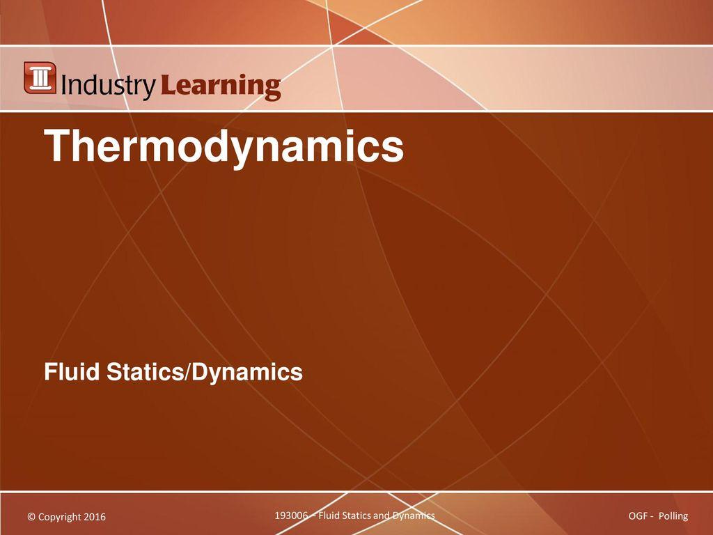 Fluid Statics/Dynamics - ppt download