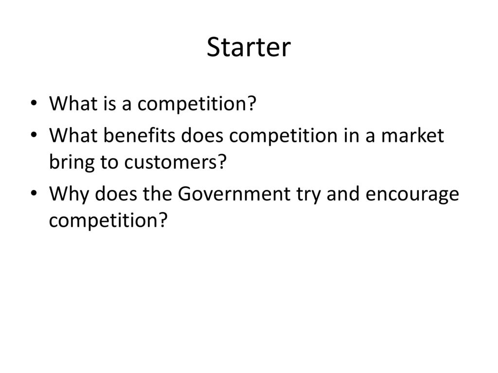 What is a competition? 47