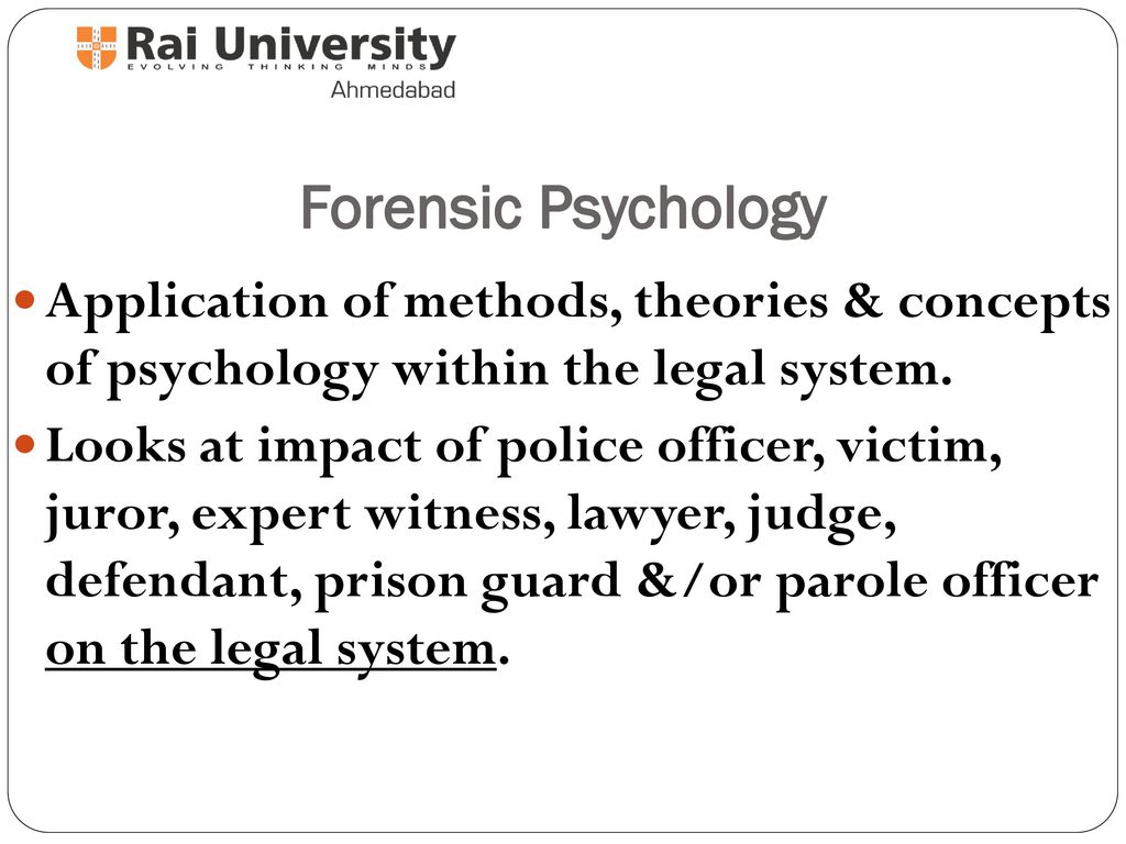 history of forensic psychology - ppt download