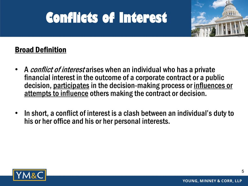 complying with california conflict of interest laws - ppt download