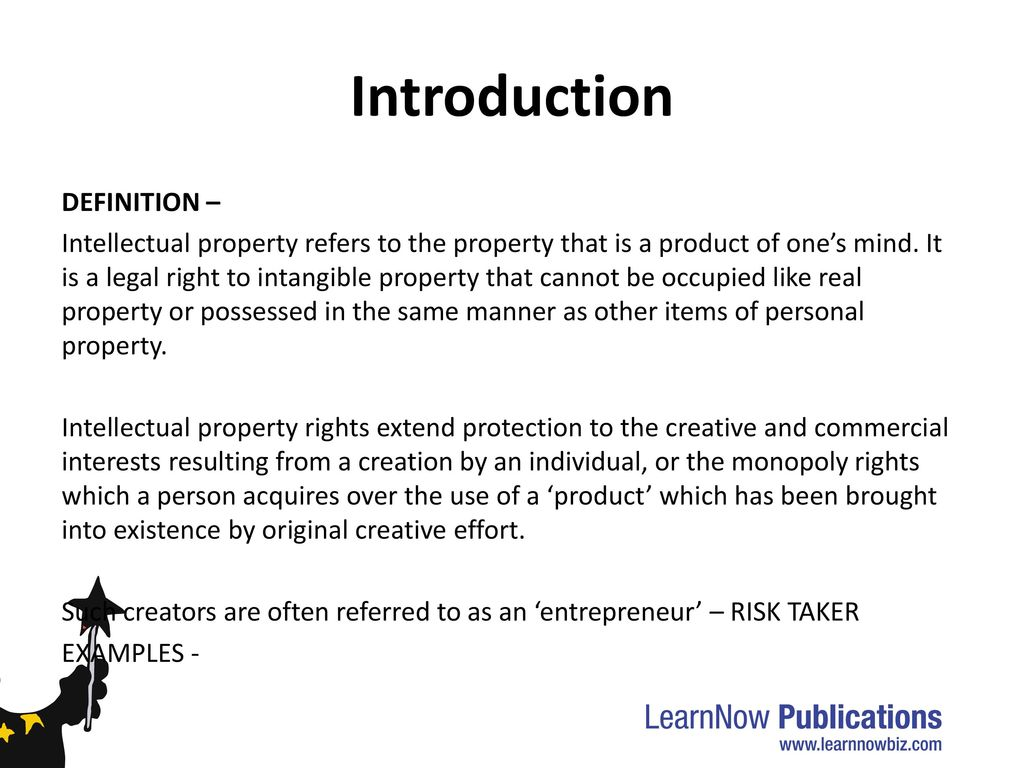 interest in intellectual property – commercial value and application