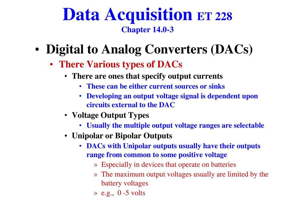 Data Acquisition Et 228 Chapter Ppt Download Analog Circuit Amplifiercircuit Diagram
