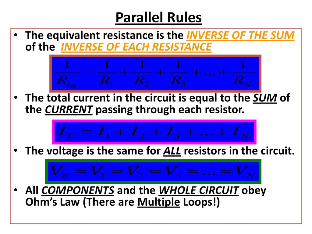 Aim How Do We Analyze A Parallel Circuit Ppt Download All The Resistors In Can Use Ohms Law To 5