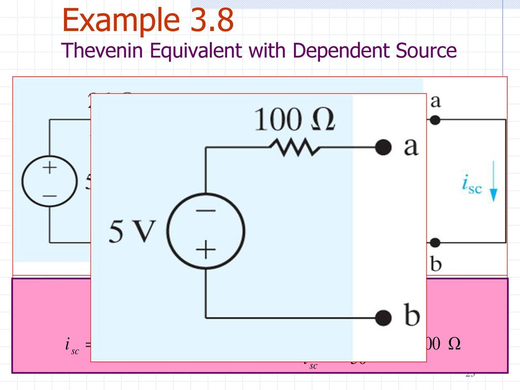 Electric Circuits Eele 2312 Ppt Download Learn About Thevenin Theorem And Dependent Source Example 38 Equivalent With