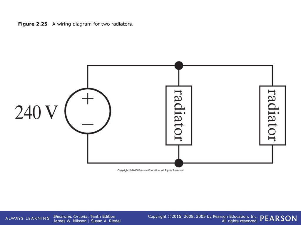 Figure 21 The Circuit Symbols For A An Ideal Independent Voltage Learning Wiring Diagrams 25 225 Diagram Two Radiators