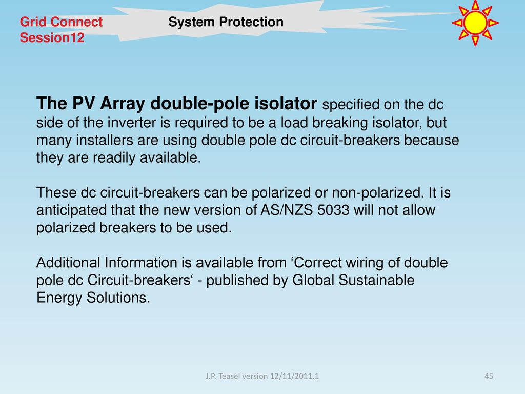 Session 13 System Protection Ppt Download Wiring Dc Circuit Breakers 45 Grid