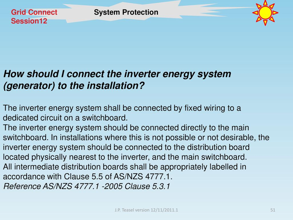 Session 13 System Protection Ppt Download Switchboard Wiring Rules 51 Grid