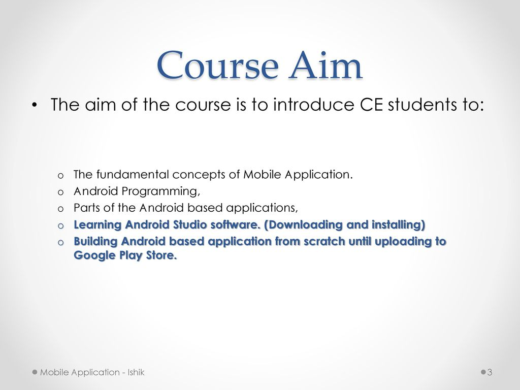 Mobile Applications (Android Programming) - ppt download