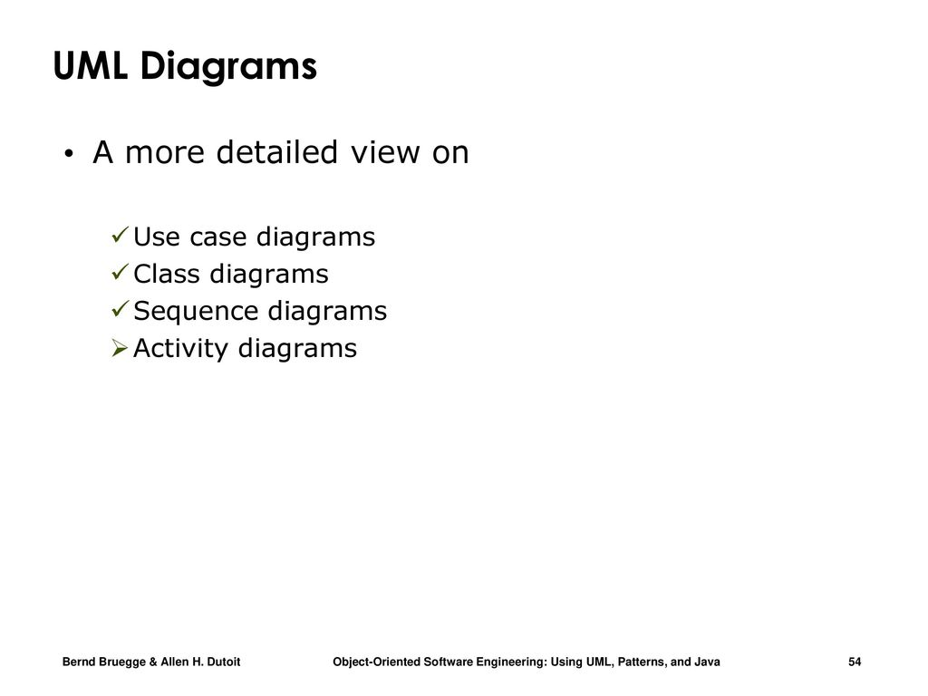 Chapter 2 Modeling With Uml Part Ppt Download Statechart Diagrams Free Examples And Software A More Detailed View On Use Case Class