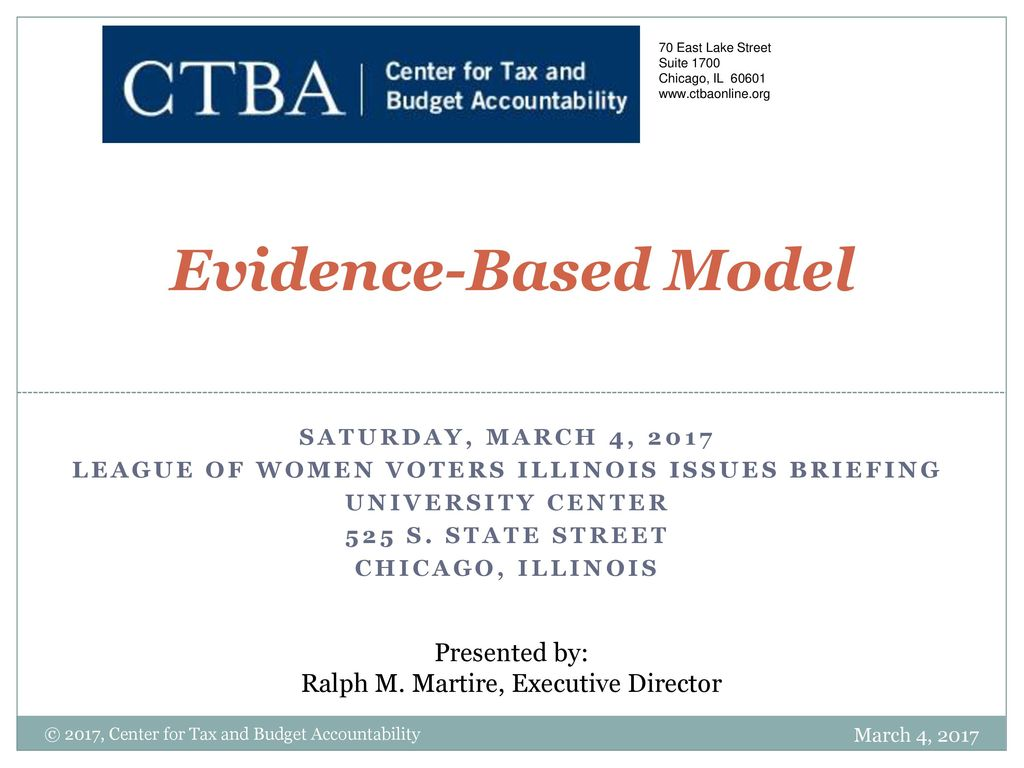 League Of Women Voters Illinois Issues Briefing