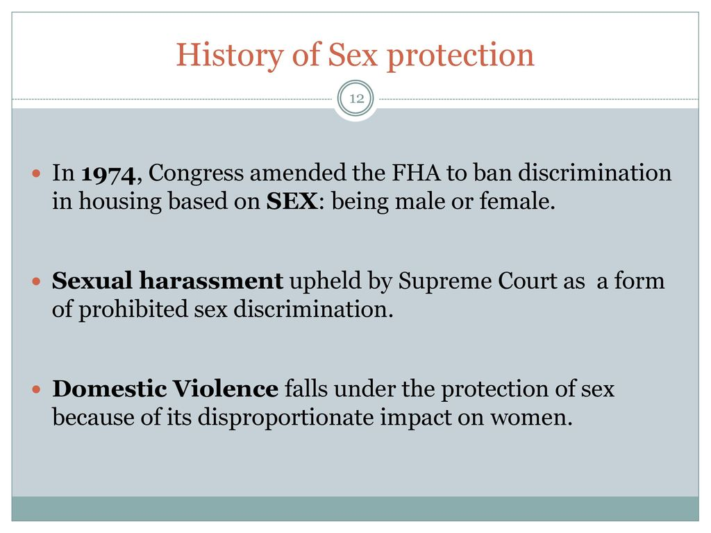 sexual protection History